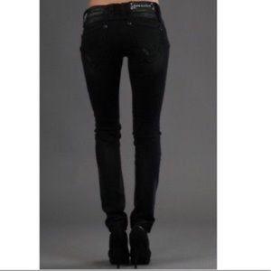 Rock Revival Amy Skinny Black Jeans Distressed